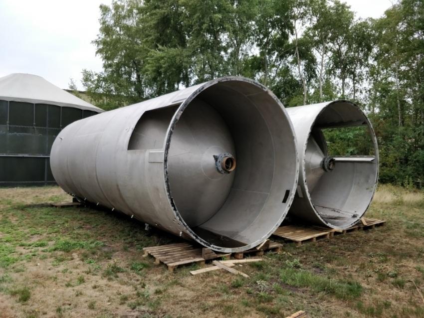 2 silosy aluminiowe 45m3 na sprzedaż