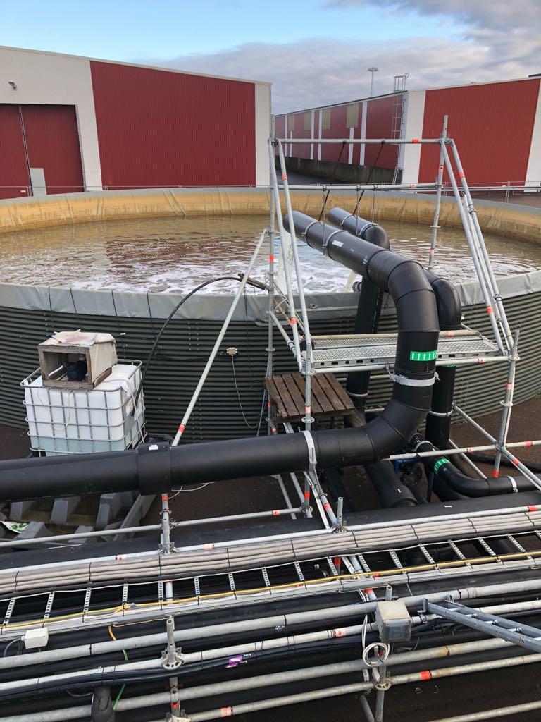 kompletna instalacja odwadniająca z oczyszczalnią ścieków na sprzedaż